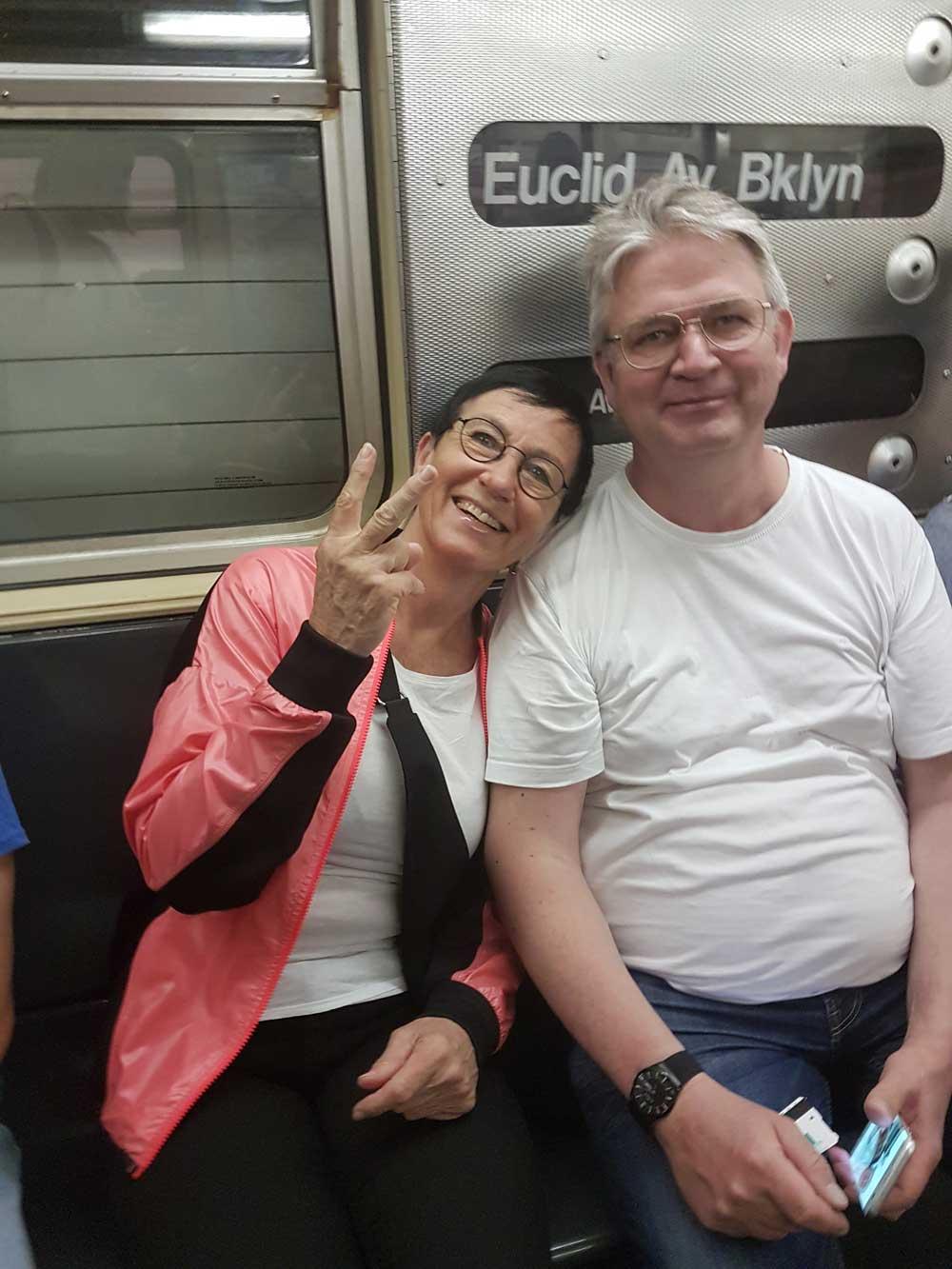 Första turen i tunnelbanan